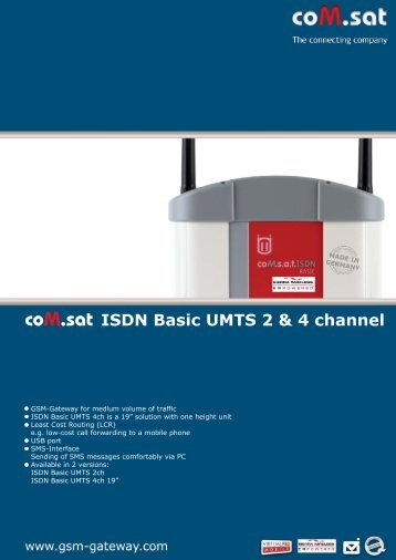 coM.sat ISDN Basic UMTS 2 & 4 channel