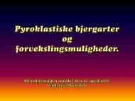 Pyroklastiske aflejringer - Vendsyssel Stenklub