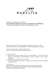 New Methods for Hardware-in-the-Loop Simulation of ... - Modelica