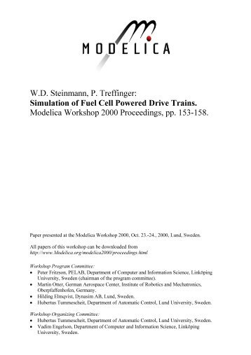 Simulation of Fuel Cell Powered Drive Trains - Modelica