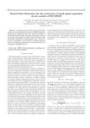 Model Order Reduction for the extraction of small signal equivalent ...