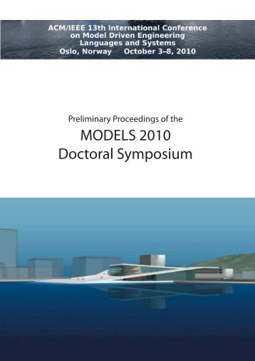 Preliminary Proceedings Of The MODELS 2010 Doctoral Symposium