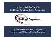 School Attendance Presentation July 2010, item 3. PDF 223 KB