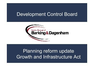 Development Control Board Planning reform update Growth and ...