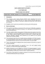 Budgetary Control Report to 31 August 2006 PDF 10 KB