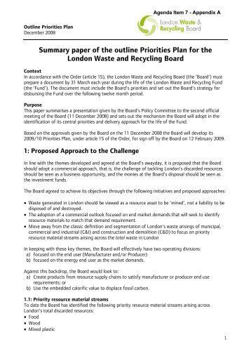 Agenda Item 07 (London Waste Recycling Board) - Meetings ...