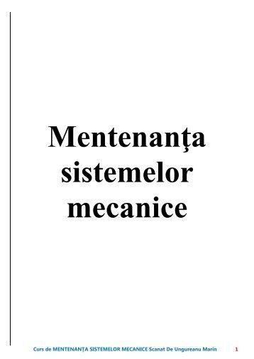 curs mentenanta sistemelor mecanice - Modulul 5