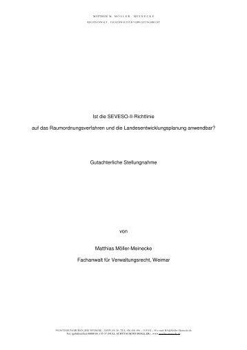 Ist die SEVESO-II-Richtlinie auf das Raumordnungsverfahren und ...