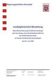 Landesplanerische Beurteilung Vorlage RVS - Moeller-Meinecke.de