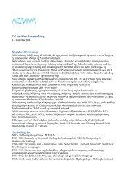CV for Alex Sonnenborg. - aqviva