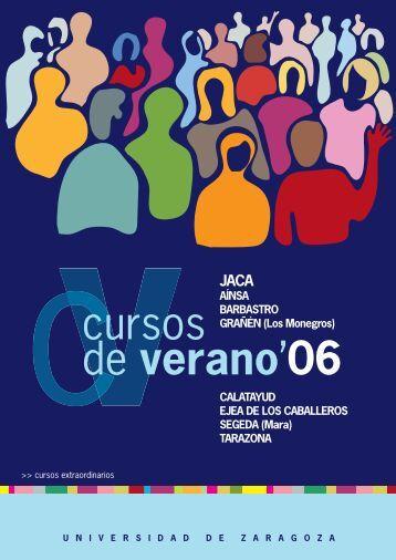 cursos de verano'06 - Universidad de Zaragoza