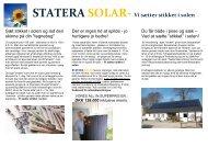 STATERA SOLAR- Vi sætter stikket i solen - Gug Boldklub