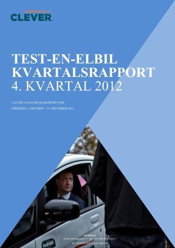Kvartalsrapport. December 2012. - Clever