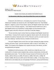 Double Gold Magellan Awards for Amawaterways