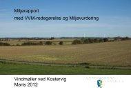 Miljørapport med VVM-redegørelse og Miljøvurdering Vindmøller ved