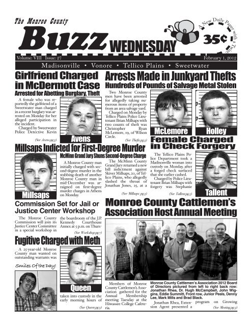 WEDNESDAY - Monroe County Tennessee News, Monroe County
