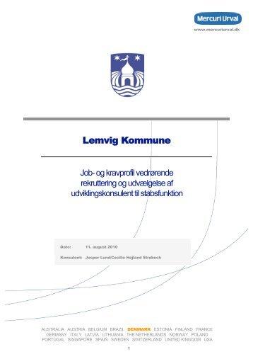 """notatet """"Udviklingskonsulent"""" - Lemvig Kommune"""