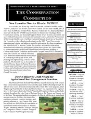 the conservation connection - Monroe County Soil and Water ...
