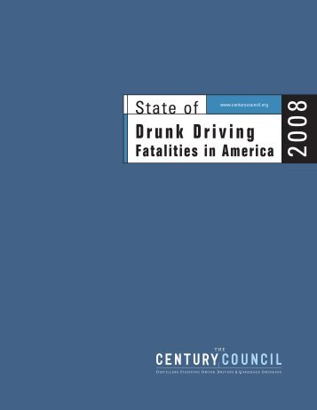 Drunk Driving Fatalities in America. 2008