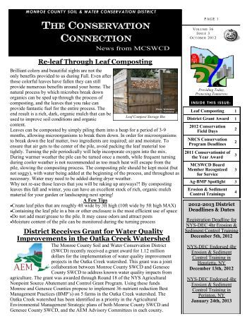 October 2012 - Monroe County Soil and Water Conservation District