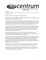 Centrum - The Ozone Secretariat biannual e-newsletter