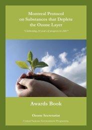 Awards Book - Ozone Secretariat - UNEP