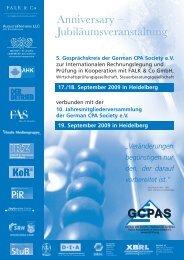5. Gesprächskreis der German CPA Society eV