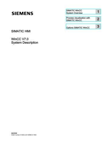 SIMATIC HMI WinCC V7.0 System Description - DCE FEL ČVUT v ...