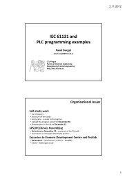 IEC 61131 and PLC programming examples - DCE FEL ČVUT v Praze