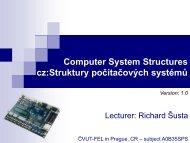 Struktury počítačových systémů - DCE FEL ČVUT v Praze