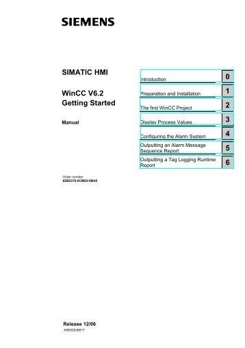 WinCC V6.2 Getting Started - DCE FEL ČVUT v Praze