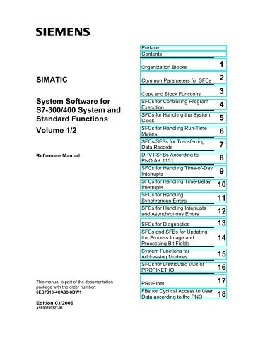 SIMATIC System Software for S7-300/400 System and Standard