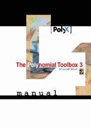 The Polynomial Toolbox for MATLAB - DCE FEL ČVUT v Praze