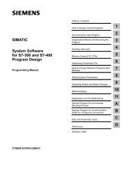 System Software for S7 Program Design - DCE FEL ČVUT v Praze