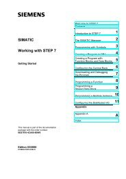 SIMATIC Working with STEP 7 - DCE FEL ČVUT v Praze