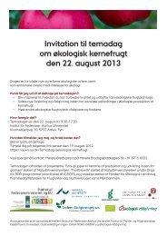 Invitation til temadag om økologisk kernefrugt den 22 ... - ICROFS