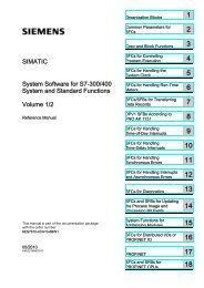System Software for S7-300/400 System and Standard Functions ...