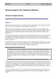 Eksamensopgaver vedr. statistik og stikprøver - Steen Toft Jørgensen