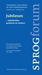 Tidsskrift for sprog- og kulturpædagogik nummer 49-50 · december ...