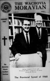 1969 - Moravian Archives