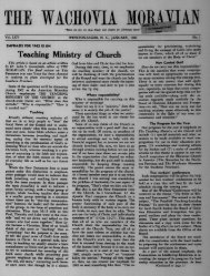 1962 - Moravian Archives