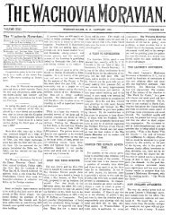 1910 - Moravian Archives