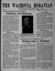 1957 - Moravian Archives