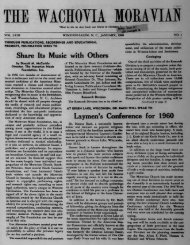 1960 - Moravian Archives