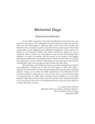 Memorial Days b.pdf - Moravian Archives