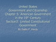 United States Government and Citizenship Chapter 1: People and ...