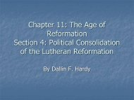 Chapter 11: The Age of Reformation Section 4: Political ...