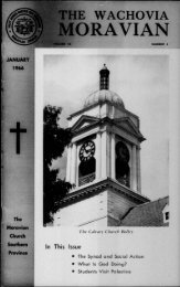 1966 - Moravian Archives