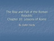 Chapter 5: Rome and the Rise of Christianity 600 B.C.-500 A.D. ...