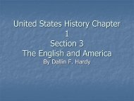 Chapter 1 Section 3: The English and America - Home